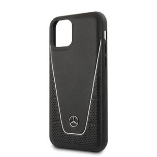 Mercedes - MEHCN58CLSSI Mercedes Quilted Smooth Kryt pro iPhone 11 Pro Black - 3700740460351