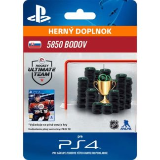 Electronic Arts - NHL 18 Ultimate Team - 5850 Hockey Points SK - 9212-50232