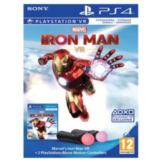 SONY - Marvel's Iron Man VR Bundle + 2 PlayStation Move Motion Controllers PS4 - 711719369905