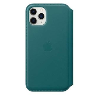 Apple - Apple iPhone 11 Pro Max Leather Folio - Peacock MY1Q2ZM/A - 190199651487