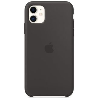 Apple - Apple iPhone 11 Silicone Case MWVU2ZM/A - Black - 190199269057