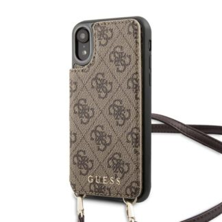 GUESS - GUHCI61CB4GB Guess 4G Crossbody Cardslot Kryt pro iPhone XR Brown - 3700740472033
