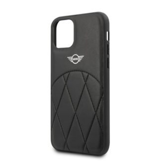 Mercedes - MIHCN58LECRBK Mini Cooper Stitched Crossing Lines Kryt pro iPhone 11 Pro Black - 3700740465196