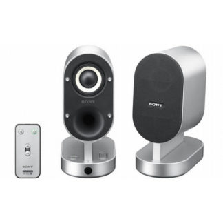 SONY - Sony Stereo Speakers with Remote SRS-ZX1 -