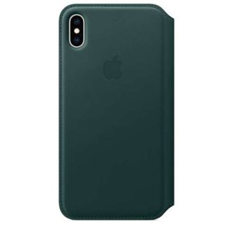 Apple - Apple iPhone XS Max Leather Folio - Forest Green MRX42ZM/A -